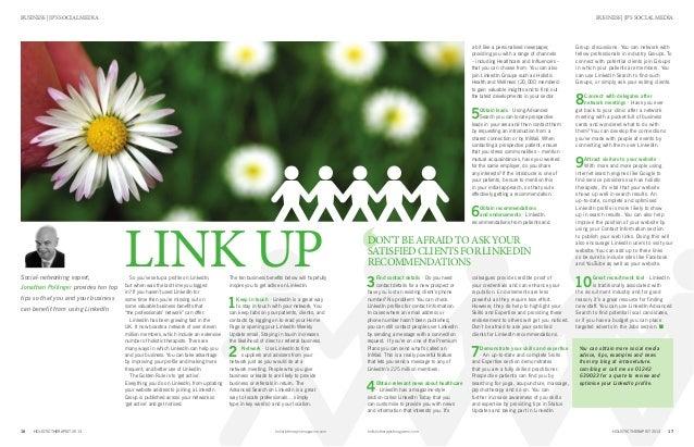 17HOLISTIC THERAPIST 2013holistictherapistmagazine.com16 HOLISTIC THERAPIST 2013 holistictherapistmagazine.com BUSINESS | ...