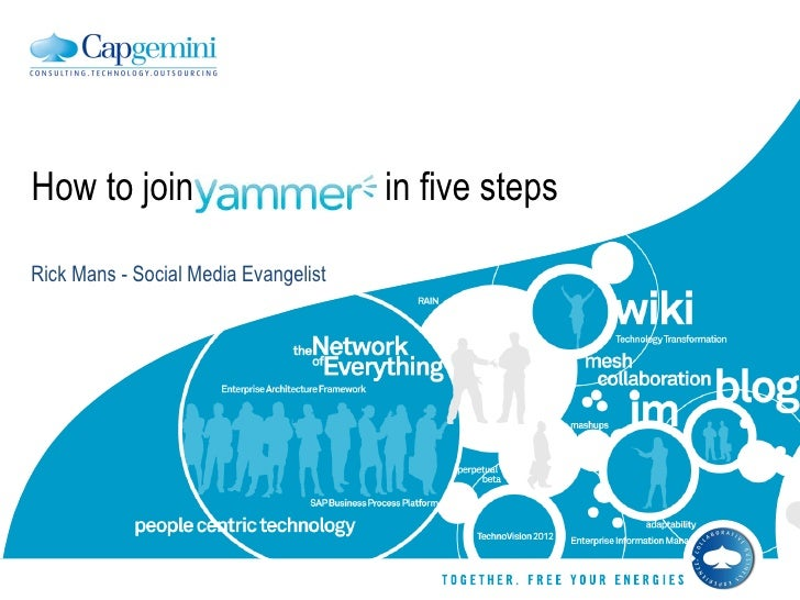 Rick Mans - Social Media Evangelist How to join yammer  in five steps