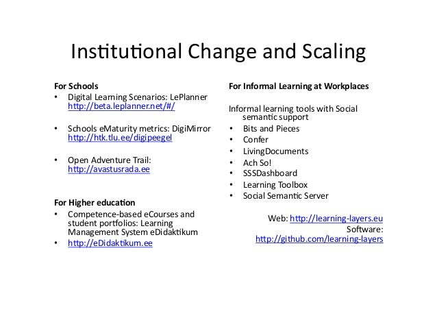 Ins/tu/onal  Change  and  Scaling   For  Schools   • Digital  Learning  Scenarios:  LePlanner   h@p:/...