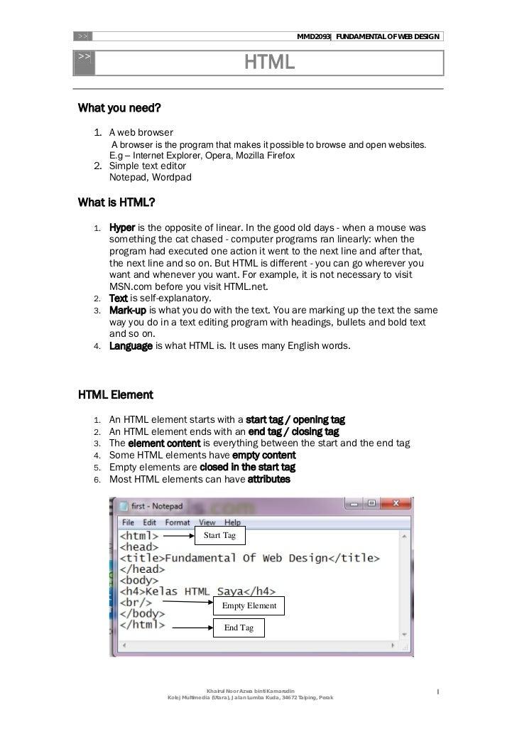 >>                                                                       MMD2093| FUNDAMENTAL OF WEB DESIGN>>             ...