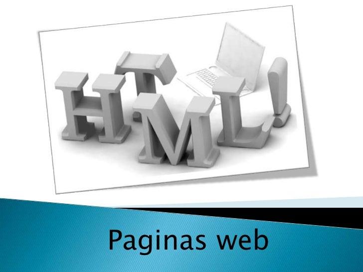 Paginas web<br />