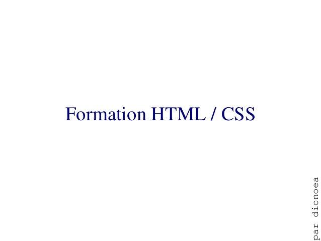 FormationHTML/CSS                       ar dionoea