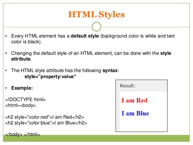Basic Html Knowledge for students