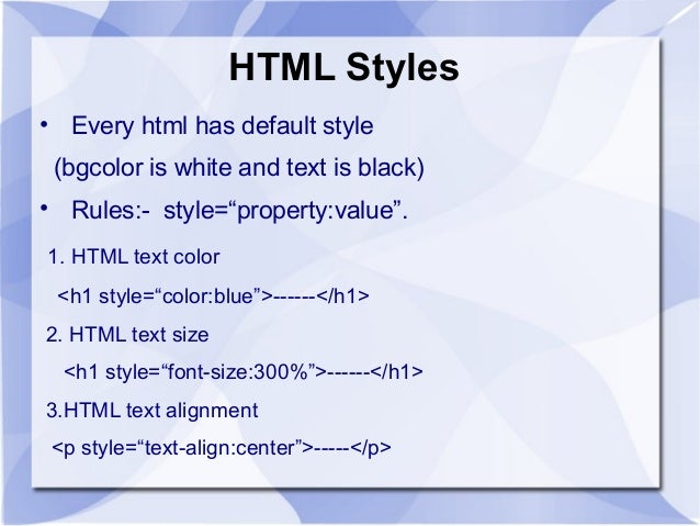 Html style attribute bold