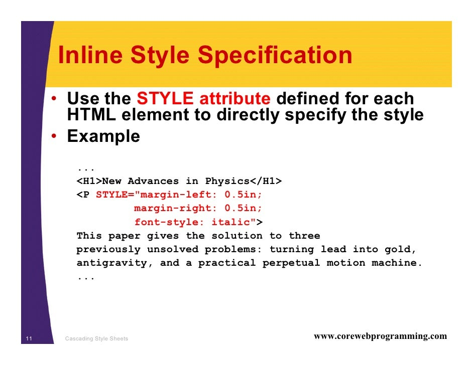 Html style link color inline