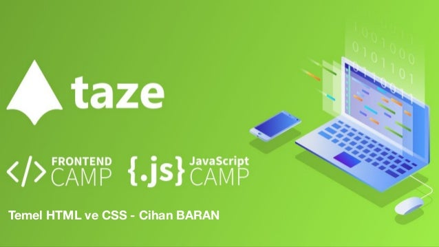 Temel HTML ve CSS - Cihan BARAN