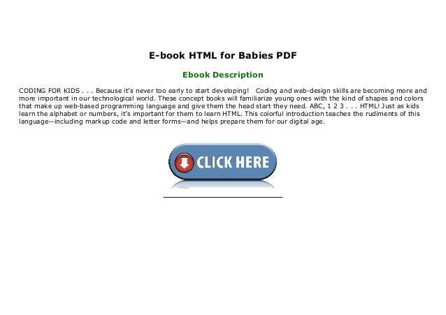 E Book Html For Babies Pdf