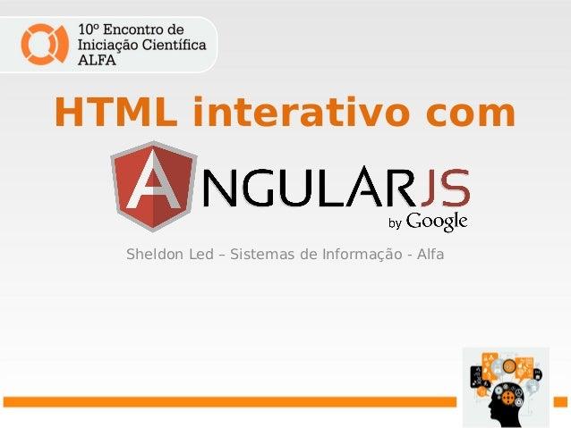 HTML interativo com Sheldon Led – Sistemas de Informação - Alfa