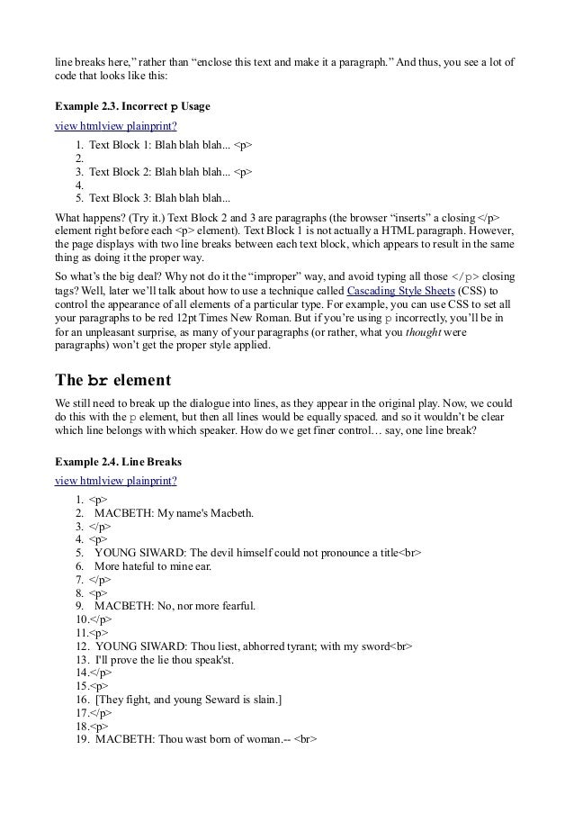 Html tutorial 15 line spiritdancerdesigns Images
