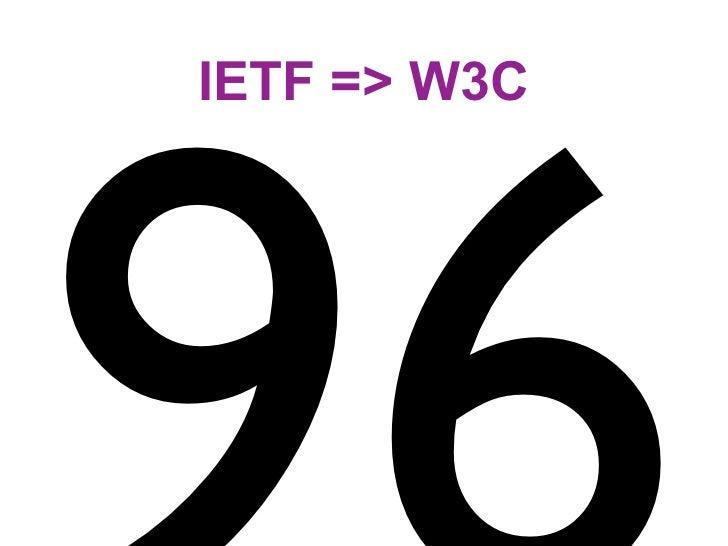 IETF => W3C
