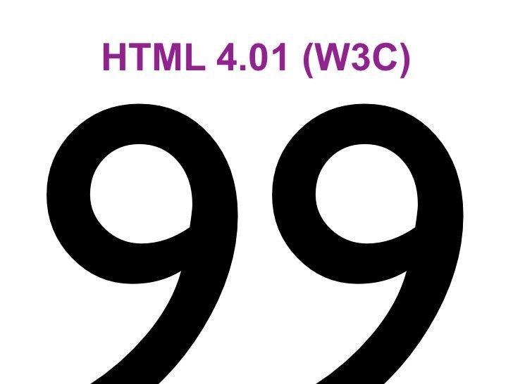 HTML 4.01 (W3C)