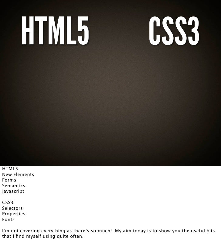 a guide to html5 and css3 pdf