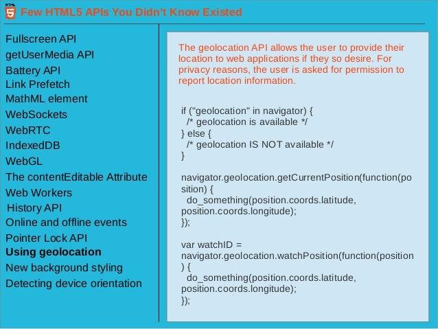 html5 offline web application api