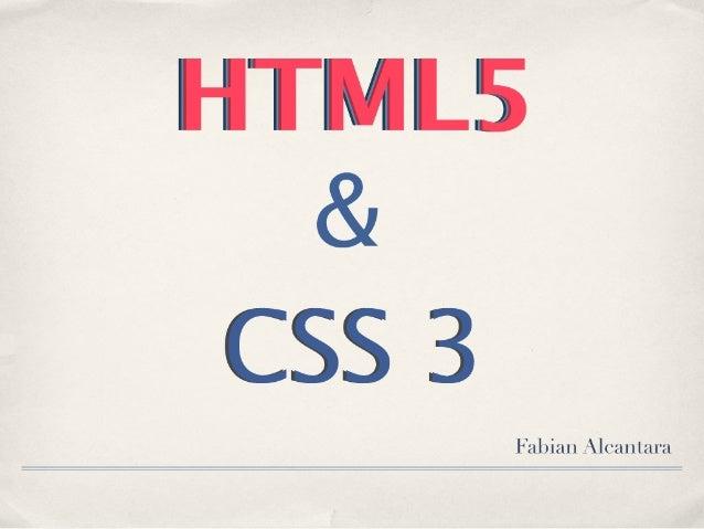 HTML5 & CSS 3