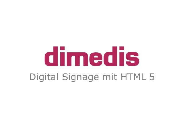 Digital Signage mit HTML 5