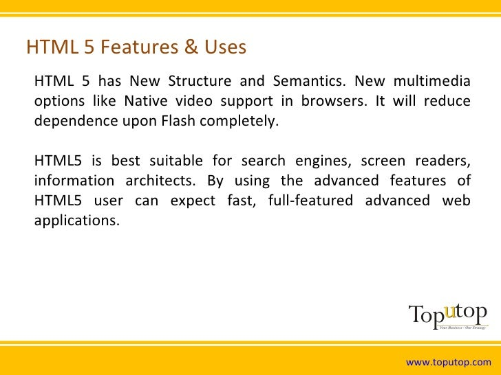 HTML5 Features and Uses