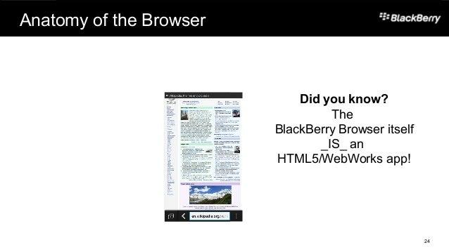 HTML5 App Dev on BlackBerry 10