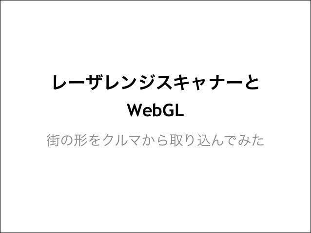 レーザレンジスキャナーと WebGL 街の形をクルマから取り込んでみた