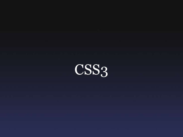 CSS3<br />