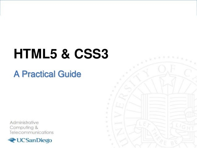HTML5 & CSS3 A Practical Guide