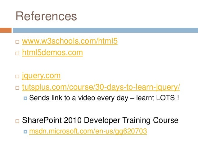 2012 - HTML5, CSS3 and jQuery with SharePoint 2010