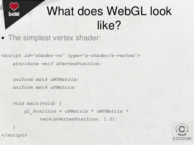 HTML5DevConf 2013 (October): WebGL is a game changer!