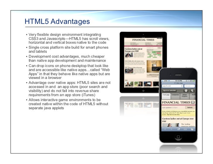 Product: HTML5 features & capabilities