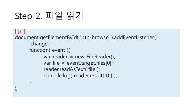 HTML5 File / FileReader