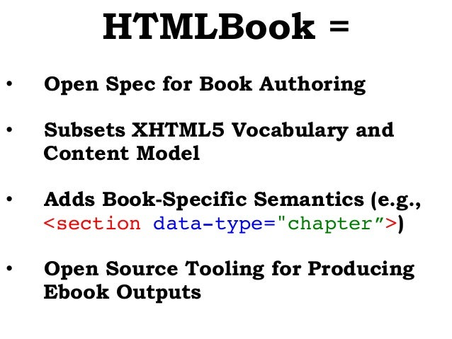 HTML5 Is the Future of Book Authorship