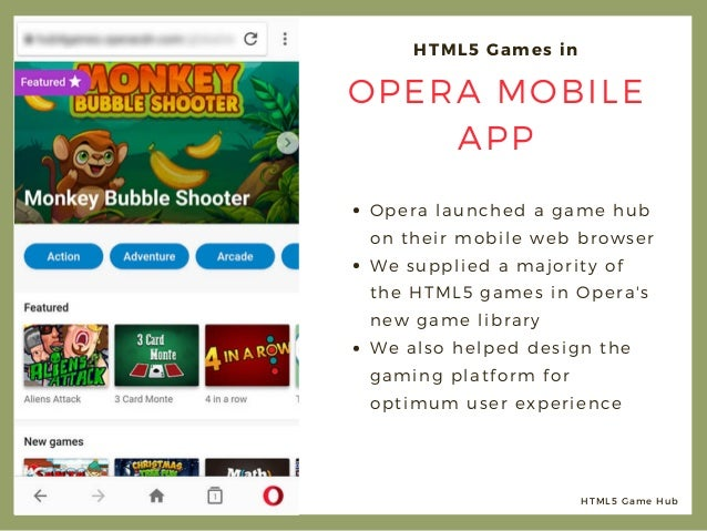 HTML5 Games for a Web Browser