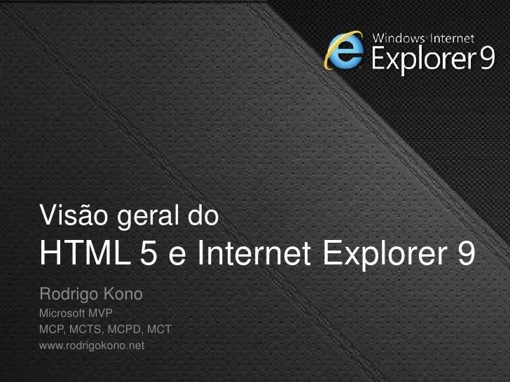 Visão Geral do HTML5 e do Internet Explorer 9