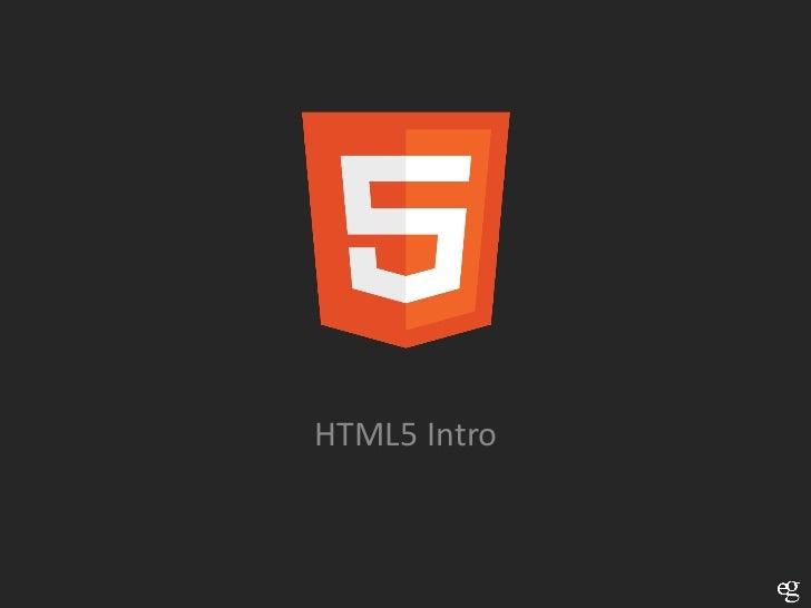 HTML5 Intro