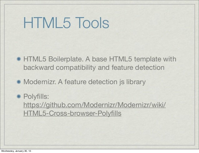 Html5 intro html5 tools html5 boilerplate a base html5 template maxwellsz
