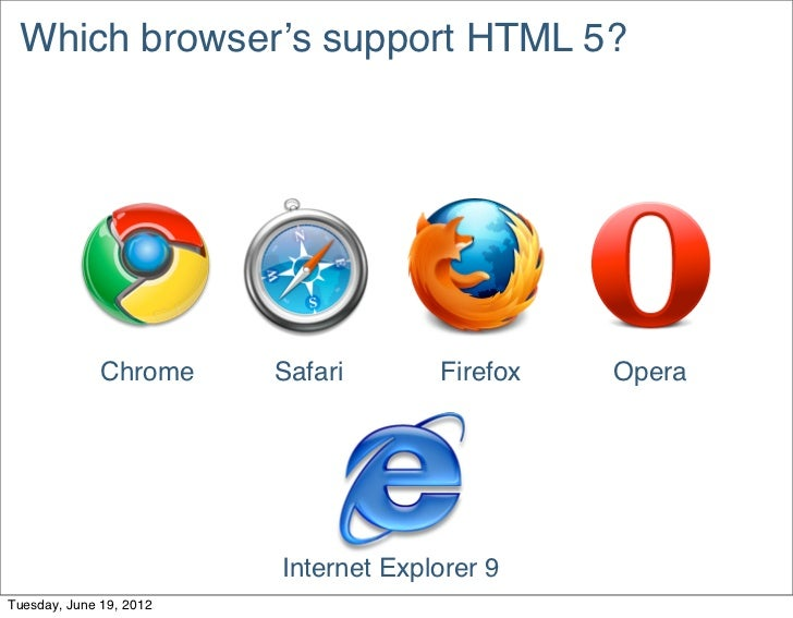 Which browser's support HTML 5?