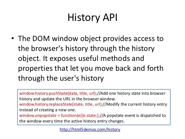 Html5 on mobile for Window popstate