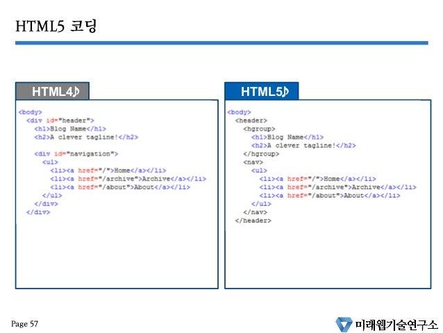 HTML5 와 미래웹기술 part 1