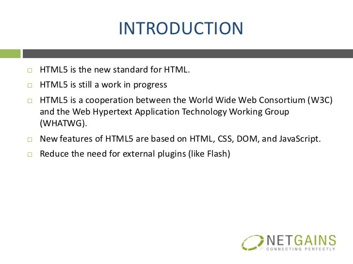Introduction to Html5 Slide 2