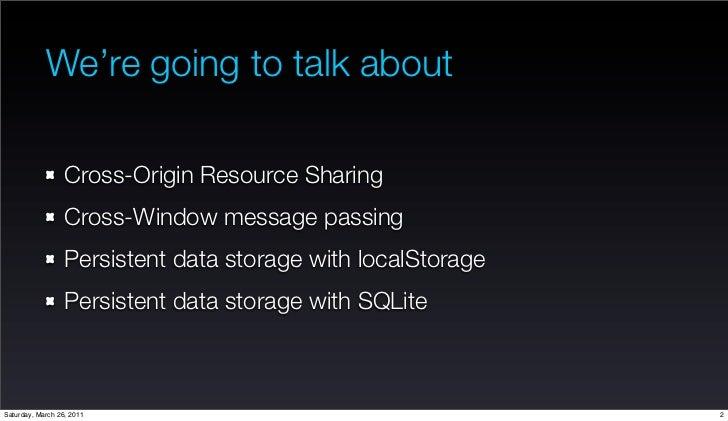 Cross Domain Access Policy solution using Cross Origin Resource sharing Slide 2