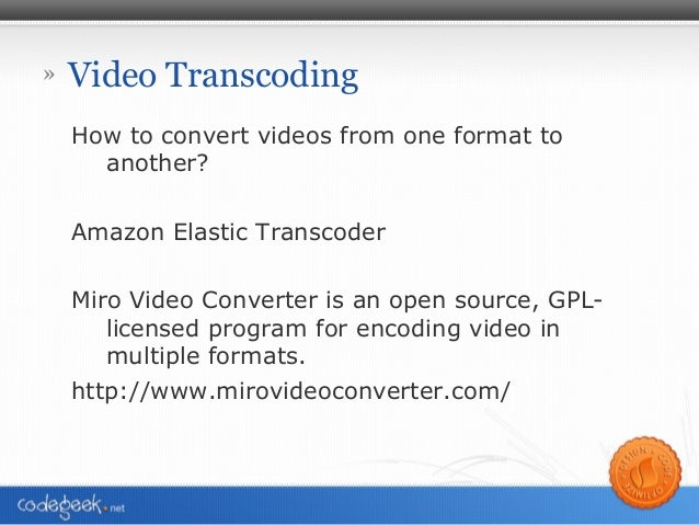 Settings that You Specify When You Create an Elastic Transcoder Job