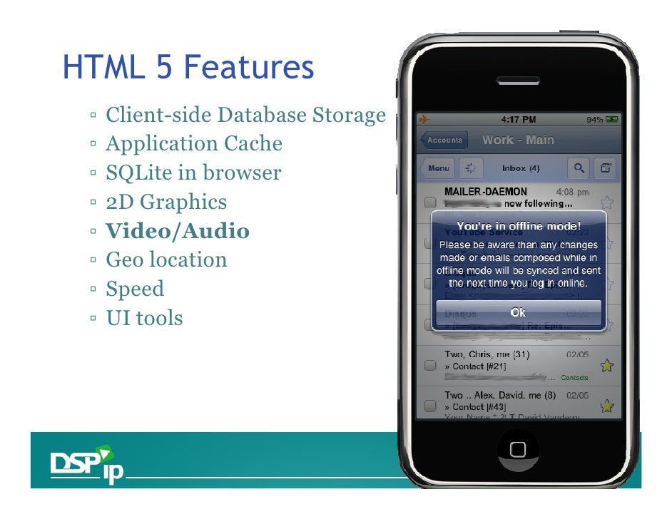 Html5, Native and Platform based Mobile Applications