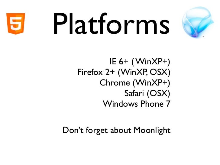 HTML5 vs Silverlight