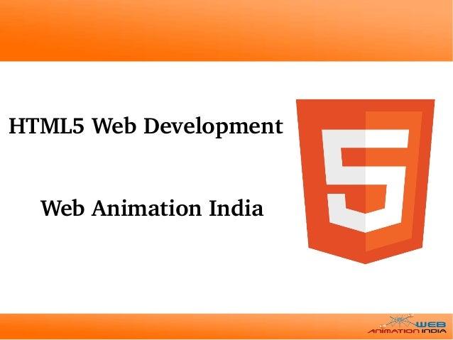 WebAnimationIndia HTML5WebDevelopment