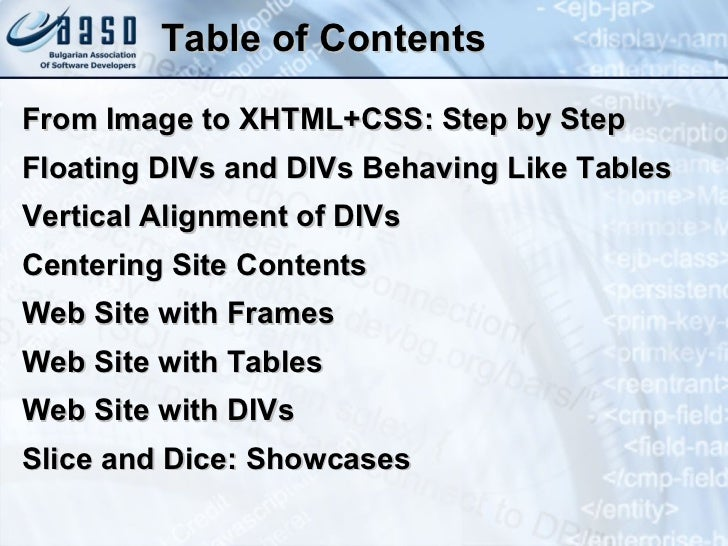 Creating Web Sites with HTML and CSS Slide 2