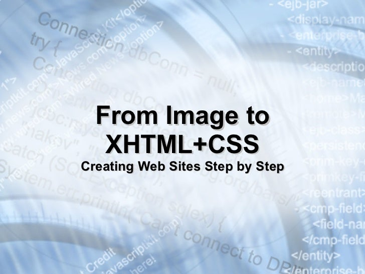 Creating Web Sites with HTML and CSS Slide 3