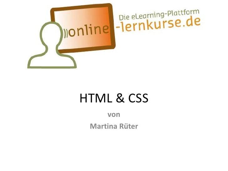 HTML & CSS     von Martina Rüter