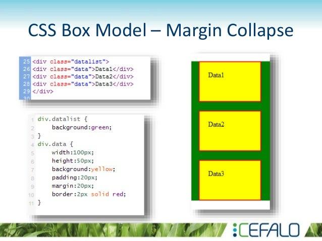 Introduction to html and css css box model margin collapse publicscrutiny Image collections