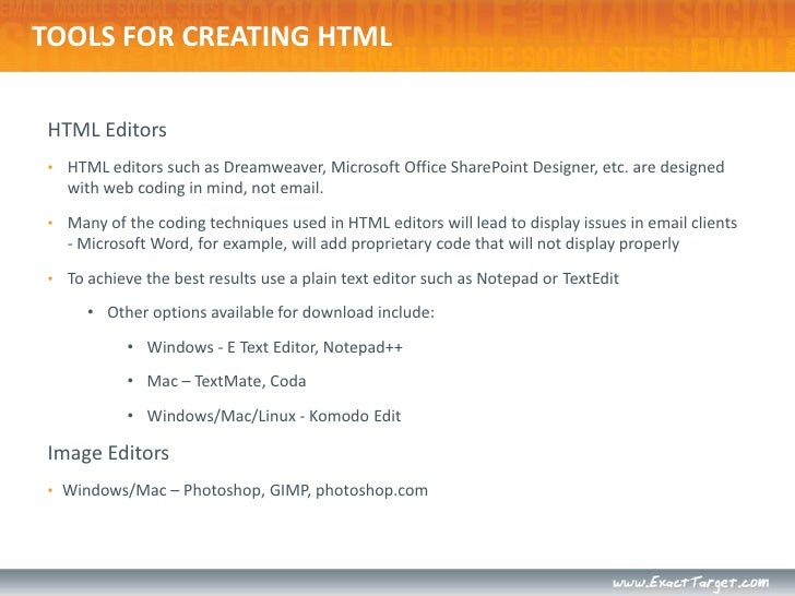 Html For Email Technical Tips And Tricks Developing Emails