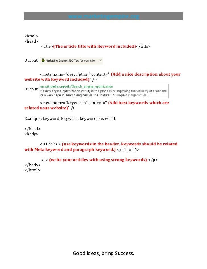 HTML tags for SEO, SEO,