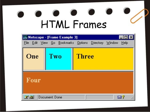 Html Frames And Html Forms