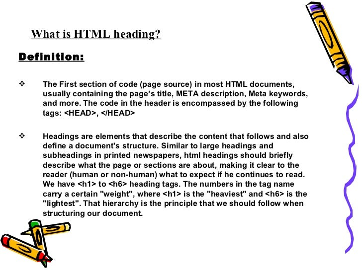 Html heading Slide 2